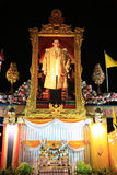 BANGKOK - 5 DÉCEMBRE : Birthday Celebration du Roi - Thaïlande 2010 Photo libre de droits