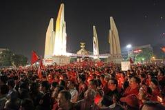 BANGKOK - 10 DÉCEMBRE : Démonstration rouge de protestation de chemises - Thaïlande Images stock