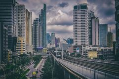 Bangkok dalla stazione di WongwianYai BTS Fotografia Stock Libera da Diritti