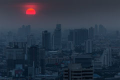 Bangkok dark blue twilight Royalty Free Stock Image