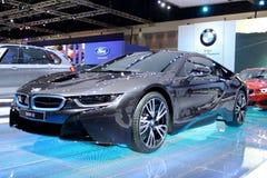 Bangkok - 2 de abril: Coche de la innovación de la serie I8 de BMW Fotos de archivo libres de regalías