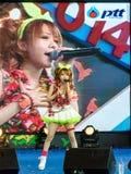 BANGKOK - 30 DE AGOSTO: Tanaka Reina (líder de la pieza vocal) de LoVendor Fotografía de archivo libre de regalías