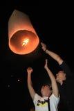 BANGKOK - 5 DE DICIEMBRE: Birthday Celebration de rey - Tailandia 2010 Fotografía de archivo libre de regalías