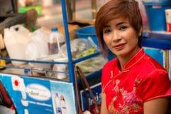 BANGKOK, - 10 DE FEBRERO: Año Nuevo chino 2013 - celebraciones adentro Imágenes de archivo libres de regalías