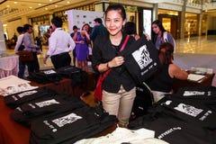 BANGKOK - 19 DE FEBRERO DE 2014: MTV sale la rueda de prensa llevada a cabo en Ce Fotos de archivo libres de regalías