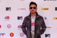 BANGKOK - 19 DE FEBRERO DE 2014: MTV sale la rueda de prensa llevada a cabo en Ce Foto de archivo