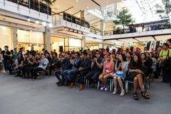 BANGKOK - 19 DE FEBRERO DE 2014: MTV sale la rueda de prensa llevada a cabo en Ce Imágenes de archivo libres de regalías