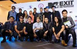 BANGKOK - 19 DE FEBRERO DE 2014: MTV sale la rueda de prensa llevada a cabo en Ce Fotografía de archivo