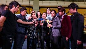 BANGKOK - 19 DE FEBRERO DE 2014: MTV sale la rueda de prensa llevada a cabo en Ce Imagenes de archivo