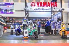 BANGKOK - 5 DE JULIO: Demostración modificada de la motocicleta en Bangkok Internati Fotografía de archivo libre de regalías