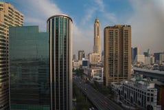 Bangkok de la opinión de la ventana Foto de archivo libre de regalías