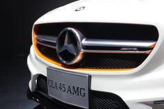 Bangkok - 31 de marzo: CLA 45 de Mercedes Benz en el coche blanco en el 37.o salón del automóvil internacional 2016 de Bangkok Ta Fotos de archivo libres de regalías