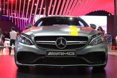 Bangkok - 31 de marzo: Mercedes Benz en el coche gris en el 37.o salón del automóvil internacional 2016 de Bangkok Tailandia el 3 Imagen de archivo libre de regalías