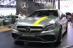 Bangkok - 31 de marzo: Mercedes Benz en el coche gris en el 37.o salón del automóvil internacional 2016 de Bangkok Tailandia el 3 Imagenes de archivo