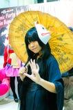 Animado japonés cosplay en el partido cómico 46.o. Imagenes de archivo
