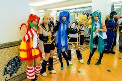 Animado japonés cosplay en el partido cómico 46.o. Foto de archivo
