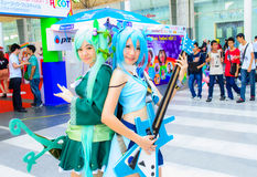 Una actitud cosplay del animado japonés no identificado. Imágenes de archivo libres de regalías