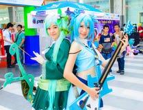 Una actitud cosplay del animado japonés no identificado. Fotos de archivo
