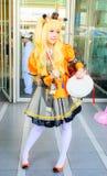 Una actitud cosplay del animado japonés no identificado. Foto de archivo libre de regalías