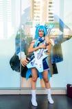 Una actitud cosplay del animado japonés no identificado. Imagen de archivo libre de regalías