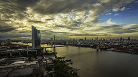 Bangkok de Rivier van het leven Royalty-vrije Stock Afbeeldingen