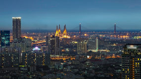Bangkok, de stad van transpotation Royalty-vrije Stock Afbeeldingen