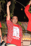 BANGKOK - DEC 10: Röd skjortaprotestdemonstration - Thailand Arkivfoton