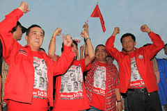 BANGKOK - DEC 10: Red Shirts Protest Demonstration - Thailand Stock Photos