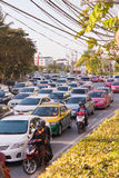 BANGKOK - DEC 23: Daily traffic jam in the afternoon on dec 23, Stock Photo