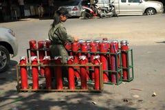 BANGKOK - DEC 5: Red Shirts Protest Demonstration - Thailand Royalty Free Stock Photos