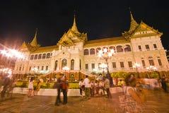 Bangkok-Dec 7:Tourists enjoy the night at Grand Pa Royalty Free Stock Photo