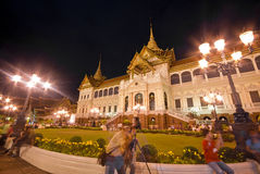 Bangkok-Dec 7:Tourists enjoy the night at Grand Pa Royalty Free Stock Photo