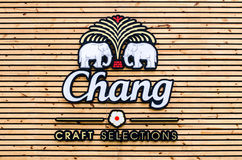 BANGKOK - DEC 6 : Chang Craft Selection Logo at Central World on Stock Images