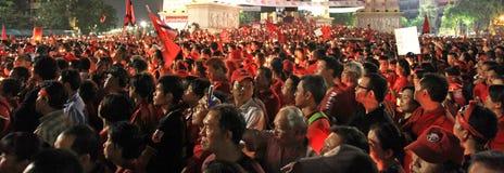 BANGKOK - 10 DEC: De rode Demonstratie van het Protest van Overhemden - Thailand Stock Afbeeldingen