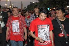 BANGKOK - 10 DEC: De rode Demonstratie van het Protest van Overhemden - Thailand Stock Afbeelding