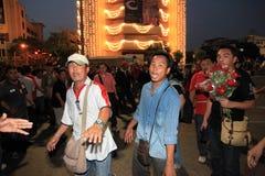 BANGKOK - DEC 10: Röd skjortaprotestdemonstration - Thailand Royaltyfri Bild