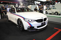 BANGKOK - December 1: BMW 420i Grann Coupe car on display at The. Motor Expo 2015 on December 1, 2015 in Bangkok, Thailand Royalty Free Stock Image