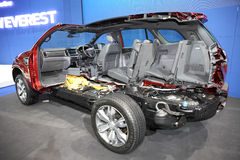 BANGKOK - December 1: Cross section of Ford Everest car on displ Royalty Free Stock Photo