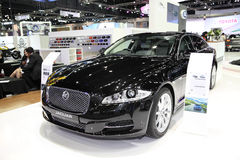 BANGKOK - December 1: Jaguar XJ car on display at The Motor Expo Royalty Free Stock Photography