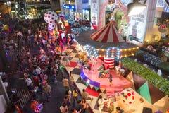 BANGKOK 31 December: Kerstmis en gelukkig nieuw jaarfestival Royalty-vrije Stock Foto's
