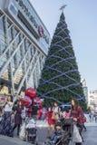 BANGKOK 31 December: Kerstmis en gelukkig nieuw jaarfestival bij c Royalty-vrije Stock Afbeelding