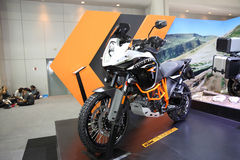 BANGKOK - December 11 : KTM Adventure motorcycle on display at T Stock Photography