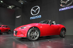 BANGKOK - December 1: Mazda MX-5 car on display at The Motor Exp Stock Photography