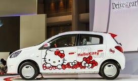 BANGKOK - DECEMBER 1 : Mitsubishi meets Hello Kitty on display a Royalty Free Stock Photo