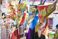 Bangkok - 21 December 2016:: Phi Ta Khon Mask in Spookfestival Royalty-vrije Stock Afbeelding