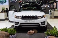 BANGKOK - DECEMBER 1, 2015: Range Rover-auto op vertoning Stock Fotografie