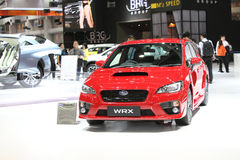 BANGKOK - December 1: Subaru WRX car on display at The Motor Exp Royalty Free Stock Photos