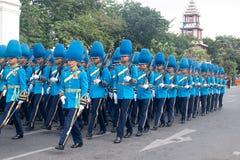 BANGKOK - DECEMBER 2 : Thai royal guard military during the king Royalty Free Stock Image