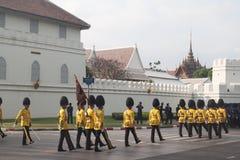 BANGKOK - DECEMBER 2 : Thai royal guard military during the king Royalty Free Stock Photography