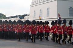 BANGKOK - DECEMBER 2 : Thai royal guard military during the king Stock Photo